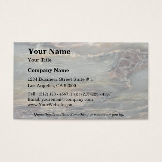 Rock Solid Earth layers Business Card