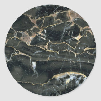Rock Solid Etching formations Classic Round Sticker