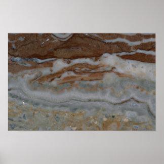 Rock Solid Flowing rosette Print