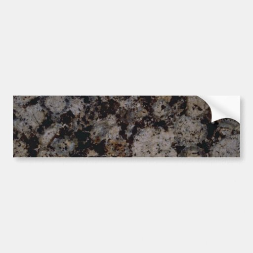 Rock Solid Impressions in mocha Car Bumper Sticker