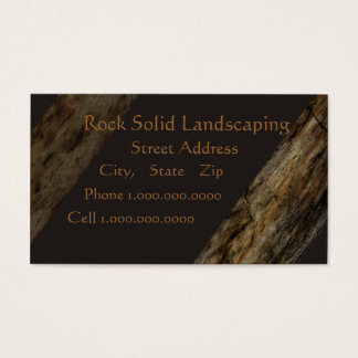 Rock Solid Landscaping Business Card