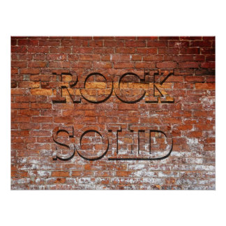 Rock Solid Poster