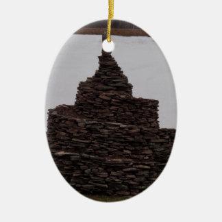 Rock Spiral Ceramic Ornament