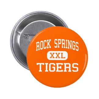 Rock Springs - Tigers - High - Rock Springs Pinback Button