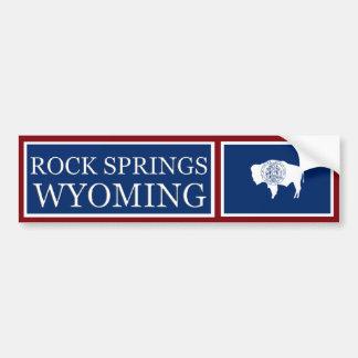 Rock Springs Wyoming State Flag Bumper Sticker