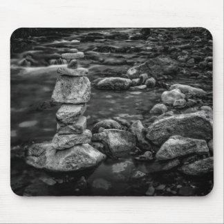 Rock Stack in Creek Mouse Pad