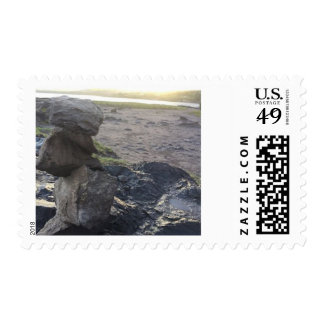 Rock Stacking Postage Stamp