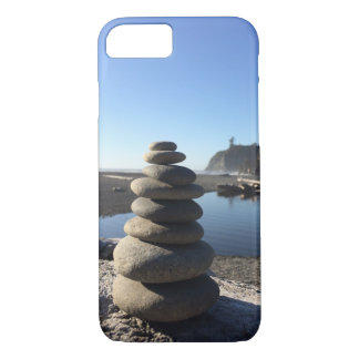 Rock Stacks at Ruby Beach iPhone 7 Case