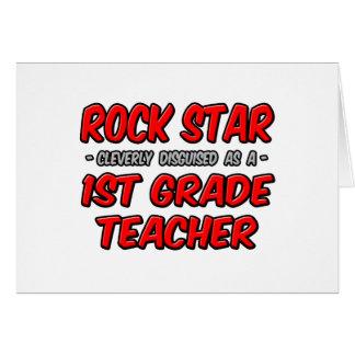Rock Star...1st Grade Teacher Cards