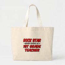 Rock Star...1st Grade Teacher Tote Bags