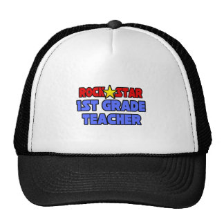 Rock Star 1st Grade Teacher Trucker Hats