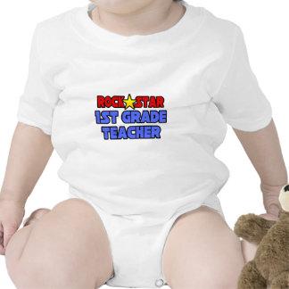 Rock Star 1st Grade Teacher Tshirt