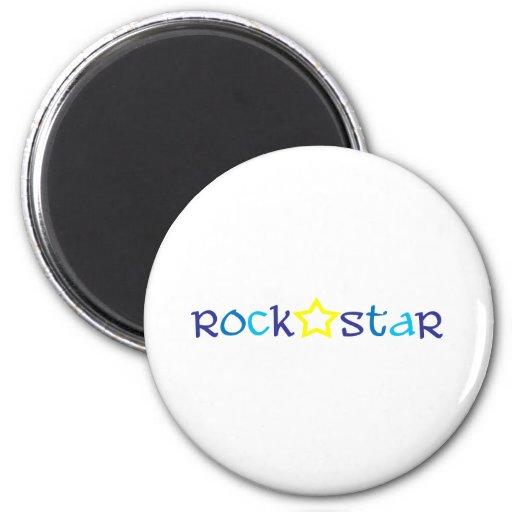 Rock Star 2 Inch Round Magnet