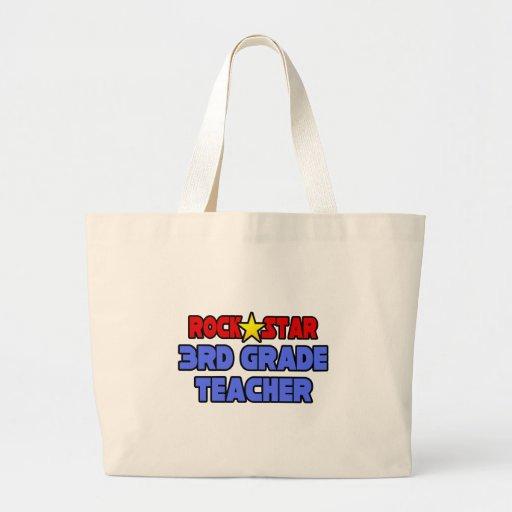Rock Star 3rd Grade Teacher Tote Bag
