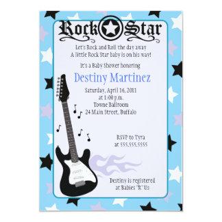 "ROCK STAR 5x7 Rocker Baby Shower Invitation 5"" X 7"" Invitation Card"