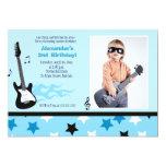 ROCK STAR 5x7 Rocker Birthday Photo Invitation
