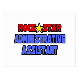 Rock Star Administrative Assistant Post Card