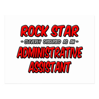 Rock Star...Administrative Assistant Post Card