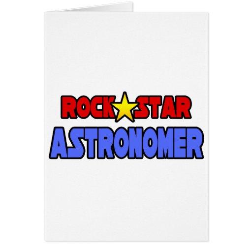 Rock Star Astronomer Greeting Card