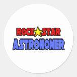 Rock Star Astronomer Round Stickers