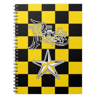 Rock Star B+Y Checker Notebook