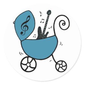 Rock Star Baby Boy Stickers sticker