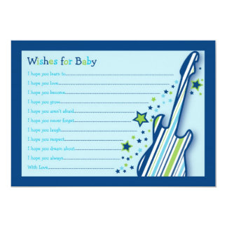 "Rock Star Baby Boy Wishes for Baby Advice Cards 5"" X 7"" Invitation Card"