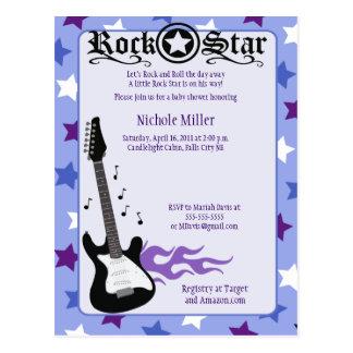 Rock Star Baby Rocker Purple/Blue Post Card Sample