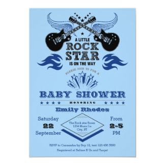 Rock Star Baby Shower Invitation
