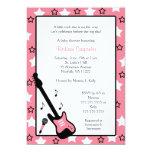 "Rock Star Baby Shower Invite Pink 5x7 5"" X 7"" Invitation Card"