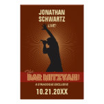 Rock Star Bar Mitzvah Poster