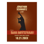 Rock Star Bar Mitzvah Save the Date Post Cards