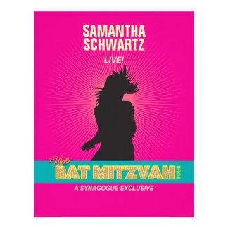 Rock Star Bat Mitzvah Reply Card in Hot Pink Custom Invites