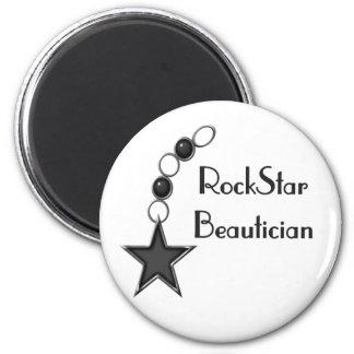 Rock Star Beautician Fridge Magnet