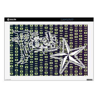 Rock Star Binary Code Laptop Vinyl Skins Decal For Laptop