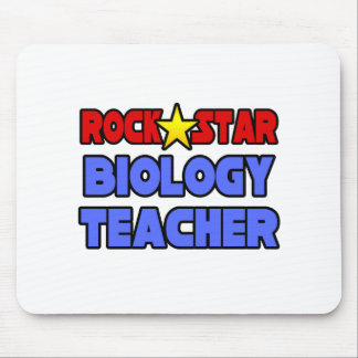 Rock Star Biology Teacher Mousepads