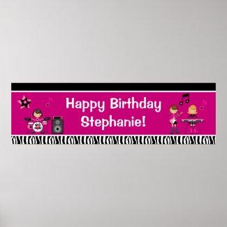 Rock Star Birthday Banner 40x12
