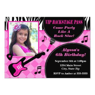 Rock Star Birthday Invitation 5x7 Photo Card