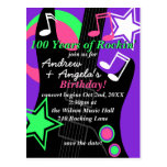 Rock Star Birthday Invitation Postcard