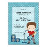 Rock Star birthday party 5x7 Paper Invitation Card