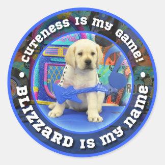 Rock Star Blizzard Classic Round Sticker