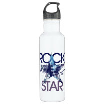 Rock Star Blue Rocker Water Bottle