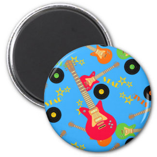 Rock Star Boy birthday party 2 Inch Round Magnet