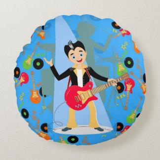 Rock Star Boy birthday party Round Pillow