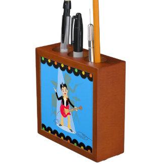 Rock star boy birthday party Pencil/Pen holder