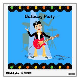 Rock Star Boy birthday party Wall Decal