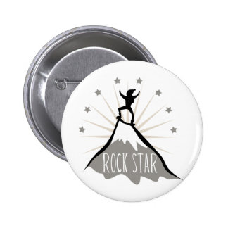 Rock Star Pinback Buttons