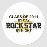 Rock Star by Night - 2011 Classic Round Sticker