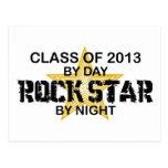 Rock Star by Night - 2013 Postcard