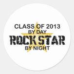 Rock Star by Night - 2013 Round Sticker